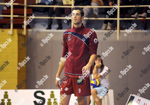 2014-10-29 / Volleybal / seizoen 2014-2015 / Topvolley Antwerpen - Asse-Lennik / Bas Van Bemmelen<br /><br />Foto: mpics.be