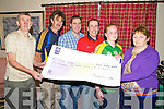 Cli?ona Coffey, Brookhill, Beaufort, pictured as she was presented with a cheque for EUR6,200 after she won the Beaufort GAA lotto. Pictured with her are Ian Joy, Maurice Foley, Darragh O'Se?, Padraig O'Sullivan and Bridget Hartnett.