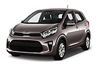 2017 KIA Picanto Fusion 5 Door Hatchback angular front stock photos of front three quarter view