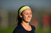 Sky Blue FC midfielder Ashley Nick (12). Sky Blue FC defeated the Washington Spirit 1-0 during a National Women's Soccer League (NWSL) match at Yurcak Field in Piscataway, NJ, on August 3, 2013.