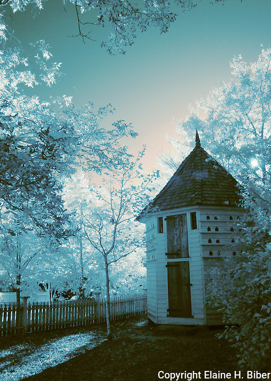 Antebellum Pigeon House at Lexington County Museum, infrared capture