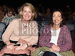 Elaine McGinty and Edel MhicGhagiann pictured at the Trad Na Samhna music show in the Barbican Centre. Photo:Colin Bell/pressphotos.ie