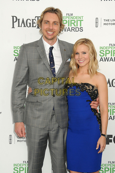 1 March 2014 - Santa Monica, California - Dax Shepard, Kristen Bell. 2014 Film Independent Spirit Awards - Arrivals held at Santa Monica Beach. <br /> CAP/ADM/BP<br /> &copy;Byron Purvis/AdMedia/Capital Pictures