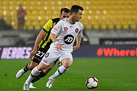 Western Sydney Wanderers FC&rsquo;s Alexander Baumjohann in action during the A-League - Wellington Phoenix v Western Sydney Wanderers at Westpac Stadium, Wellington, New Zealand on Saturday 3 November  2018. <br /> Photo by Masanori Udagawa. <br /> www.photowellington.photoshelter.com
