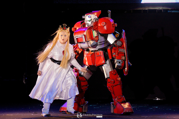 The French team performing at the World Cosplay Summit championship at Oasis 21 on the 10th anniversary.