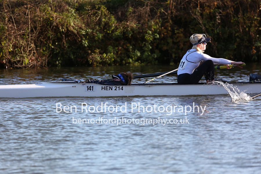 Crew: 141   W J15 4+   Henley Rowing Club   HEN-WILSON<br /> <br /> Wallingford Head 2017<br /> <br /> To purchase this photo, or to see pricing information for Prints and Downloads, click the blue 'Add to Cart' button at the top-right of the page.