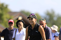 Lexi Thompson (USA) on the 6th tee during Thursday's Round 1 of The Evian Championship 2018, held at the Evian Resort Golf Club, Evian-les-Bains, France. 13th September 2018.<br /> Picture: Eoin Clarke | Golffile<br /> <br /> <br /> All photos usage must carry mandatory copyright credit (© Golffile | Eoin Clarke)