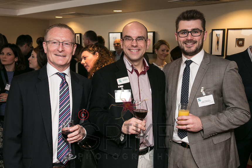 From left are Mark Dyer of Get Management, Andy Churchill of Urban Village Property and Adam Kingswood of Kingswood Residential