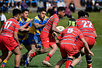 Hurricanes U15 Rugby - Kelston Boys' High School v St Peter's College<br />  at St. Patrick's College, Silverstream, Upper Hutt, New Zealand on Saturday 7 September 2019. <br /> Photo by Masanori Udagawa. <br /> www.photowellington.photoshelter.com