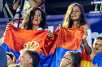 Serbia Fans <br /> SRB -ESP Serbia (white caps) vs. Spain (blue caps) <br /> Barcelona 28/07/2018 Piscines Bernat Picornell <br /> Men Final 1st 2nd place <br /> 33rd LEN European Water Polo Championships - Barcelona 2018 <br /> Photo Andrea Staccioli/Deepbluemedia/Insidefoto