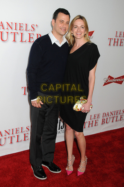 Jimmy Kimmel &amp; Molly McNearney<br /> &quot;Lee Daniels' The Butler&quot; Los Angeles Premiere held at Regal Cinemas L.A. Live, Los Angeles, California, USA.<br /> August 12th, 2013<br /> full length dress married husband wife black white shirt collar <br /> CAP/ADM/BP<br /> &copy;Byron Purvis/AdMedia/Capital Pictures