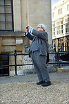 Sir Alan Parker, film director, photographs the Sheldonian Theatre during the Sunday Times Oxford Literary Festival, UK, 24 March - 1 April 2012. <br />