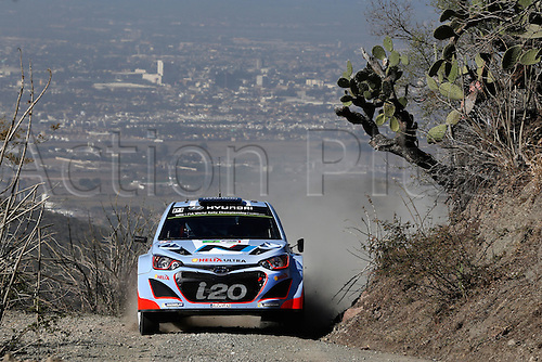 06.03.2014. GUANAJUATO, Mexico. The World Rally Championships (WRC) of Mexico.  Thierry Neuville (BEL - Nicolas Gilsoul (BEL)-- Hyundai I20 WRC