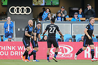 SAN JOSE, CA - JUNE 26: Magnus Eriksson #7, Cristian Espinoza #10 during a Major League Soccer (MLS) match between the San Jose Earthquakes and the Houston Dynamo on June 26, 2019 at Avaya Stadium in San Jose, California.