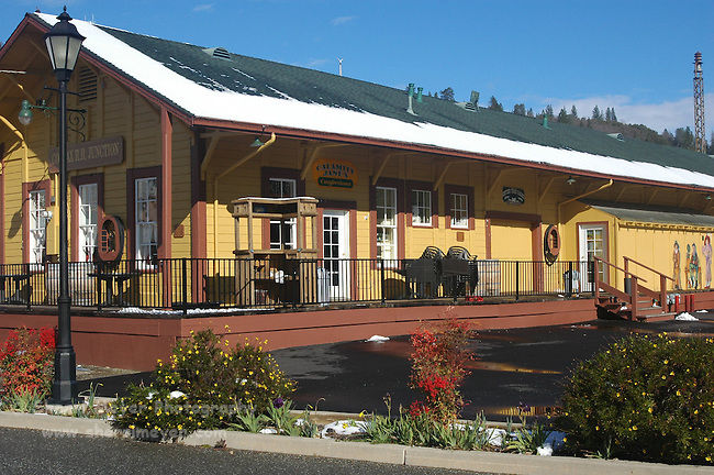 Old Railroad Station in Colfax