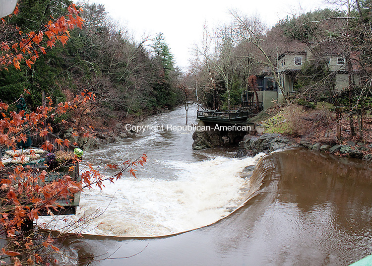 WOODBURY CT.-23 NOVEMBER 2011 112311DA02-  Planning Commission Chairman Andy Peklo has applied to construct a hydro-electric turbine in the dam beside his historic mill home, rankling neighbors who worry about the environmental and asthetic impact. <br /> Darlene Douty Republican American.