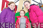 HOW TALL AM I?: Checking out the new playground in Tarbert on Friday last were l-r: Eva McLoughlin, Emma Fox and Kate Coolahan.