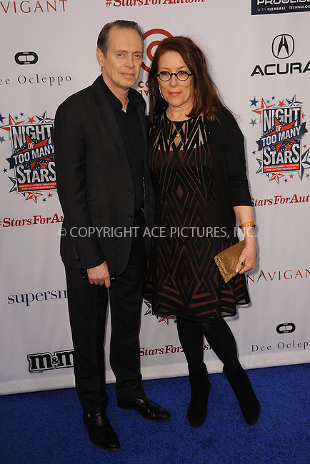 WWW.ACEPIXS.COM<br /> February 28, 2015 New York City<br /> <br /> Jo Andres and Steve Buscemi attending Comedy Central Night Of Too Many Stars at Beacon Theatre on February 28, 2015 in New York City.<br /> <br /> Please byline: Kristin Callahan/AcePictures<br /> <br /> ACEPIXS.COM<br /> <br /> Tel: (646) 769 0430<br /> e-mail: info@acepixs.com<br /> web: http://www.acepixs.com