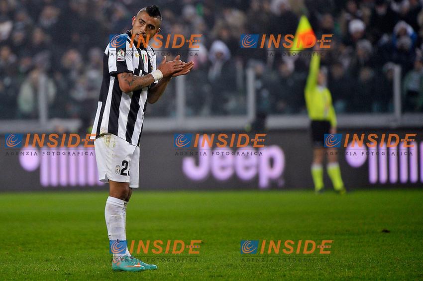 Arturo Vidal  Juventus.Calcio Juventus vs Milan.Coppa Italia - Torino 09/1/2013 Juventus Stadium .Football Calcio 2012/2013.Foto Federico Tardito Insidefoto