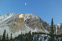 Moon over Wheeler Peak (13,063), Great Basin National Park, Nevada