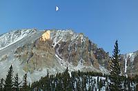 Moon over Wheeler Peak (13,063), Great Basin National Park, Nevada