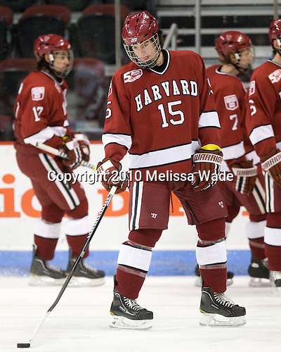 John Caldwell (Harvard - 15) - The Boston University Terriers defeated the visiting Harvard University Crimson 5-2 on Saturday, January 15, 2011, at Agganis Arena in Boston, Massachusetts.