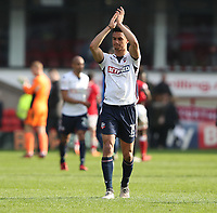 Bolton Wanderers' Antonee Robinson applauds the crowd at the end of todays match<br /> <br /> <br /> Photographer Rachel Holborn/CameraSport<br /> <br /> The EFL Sky Bet Championship - Barnsley v Bolton Wanderers - Saturday 14th April 2018 - Oakwell - Barnsley<br /> <br /> World Copyright &copy; 2018 CameraSport. All rights reserved. 43 Linden Ave. Countesthorpe. Leicester. England. LE8 5PG - Tel: +44 (0) 116 277 4147 - admin@camerasport.com - www.camerasport.com