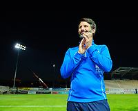 Lincoln City manager Danny Cowley applauds the fans at the final whistle<br /> <br /> Photographer Chris Vaughan/CameraSport<br /> <br /> The EFL Sky Bet League Two Play Off Second Leg - Exeter City v Lincoln City - Thursday 17th May 2018 - St James Park - Exeter<br /> <br /> World Copyright &copy; 2018 CameraSport. All rights reserved. 43 Linden Ave. Countesthorpe. Leicester. England. LE8 5PG - Tel: +44 (0) 116 277 4147 - admin@camerasport.com - www.camerasport.com