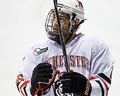 David Strathman (NU - 6) - The Northeastern University Huskies defeated the Boston College Eagles 3-2 on Friday, February 19, 2010, at Matthews Arena in Boston, Massachusetts.