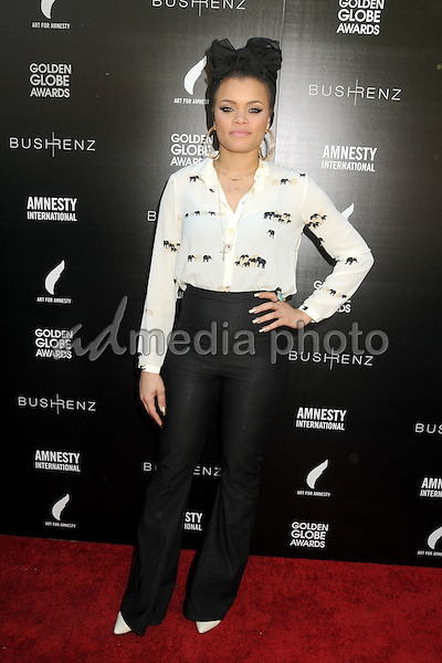 8 January 2016 - West Hollywood, California - Andra Day. 1st Annual Art for Amnesty Pre-Golden Globes Brunch held at Chateau Marmont. Photo Credit: Byron Purvis/AdMedia
