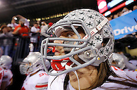 Ohio State Buckeyes offensive linesman Taylor Decker (68) waits to run onto the field prior to the Big Ten Championship football game at Lucas Oil Stadium in Indianapolis on Friday, December 7, 2013. (Columbus Dispatch photo by Jonathan Quilter)