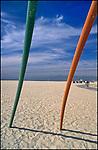 Detail of beach playground toy at Venice Beach, CA