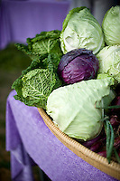 Cabbage from Perry-winkle farm at the Carrboro Farmer's Market.