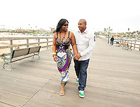 Dana and Stephanie engagement in Seal Beach