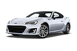 Stock pictures of low aggressive front three quarter view of 2017 Subaru BRZ Limited 2 Door Coupe Low Aggressive