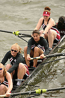 14 April 2006: The women's varsity four during the 2006 Stanford Invitational Crew Classic at Redwood Shores, CA.