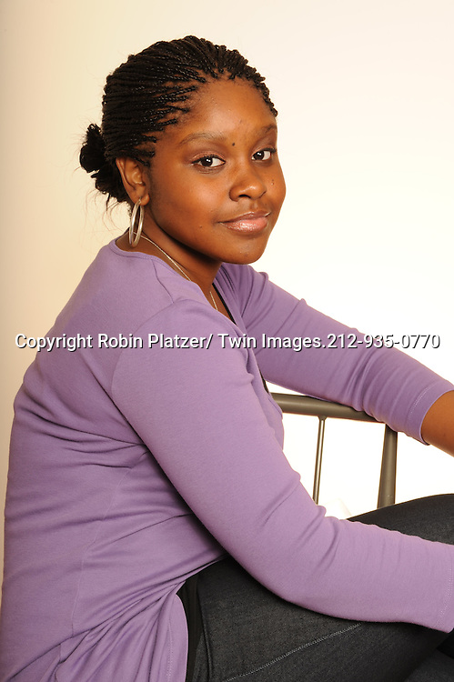 """Shenell Edmonds of """"One Life to Live """" photographed in a studio on September 20, 2010 in New York City. .Photo by Robin Platzer/ Twin Images"""