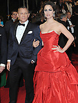 NON EXCLUSIVE PICTURE: PAUL TREADWAY / MATRIXPICTURES.CO.UK.PLEASE CREDIT ALL USES..WORLD RIGHTS..English actor Daniel Craig and French actress Berenice Marlohe attend The Royal World Premiere of Skyfall, Royal Albert Hall, London...OCTOBER 23RD 2012..REF: PTY 124755