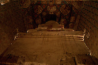 10th century murals of the ancient Alchi Monastery in a village beyond Leh, Ladakh