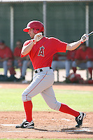 Tyson Auer #68 of the Los Angeles Angels plays in a minor league spring training game against the Chicago Cubs at the Angels minor league complex on April 4, 2011  in Tempe, Arizona. .Photo by:  Bill Mitchell/Four Seam Images.