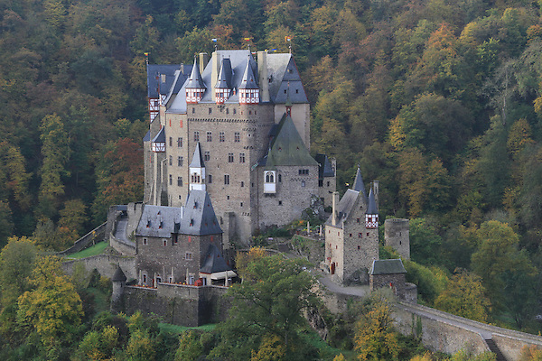 Burg Eltz Castle above the Mosel River Valley, France