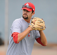 LHP Patrick Daugherty (37) of the Johnson City Cardinals in a game against the Kingsport Mets on July 17, 2010, at Howard Johnson Field in Johnson City, Tenn. Photo by: Tom Priddy/Four Seam Images