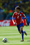 Euqenio Mena (CHI),<br /> JUNE 28, 2014 - Football / Soccer :<br /> FIFA World Cup Brazil 2014 Round of 16 match between Brazil 1(3-2)1 Chile at Estadio Mineirao in Belo Horizonte, Brazil. (Photo by D.Nakashima/AFLO)