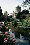 'WINE IN ENGLAND, SOMERSET', WELLS CATHEDRAL FROM THE MOATED BISHOPS PALACE, 1989