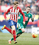Atletico de Madrid's Fernando Torres (l) and Sociedad Deportiva Eibar's Manuel Castellano Lillo during La Liga match. February 6,2016. (ALTERPHOTOS/Acero)