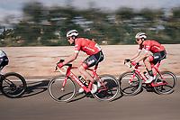 Gregory Rast (SUI/Trek-Segafredo) &amp; Boy van Poppel (NED/Trek-Segafredo) speeding<br /> <br /> 27th Challenge Ciclista Mallorca 2018<br /> Trofeo Campos-Porreres-Felanitx-Ses Salines: 176km