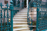 66512-00109 Iron fence and decorations on John Rutledge House Inn Bed & Breakfast, Charleston, SC