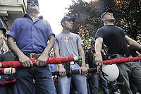 - Milan, demonstration of the neonazi group &quot;Forza Nuova&quot;<br /> <br /> - Milano, manifestazione del gruppo neonazista &quot;Forza Nuova&quot;