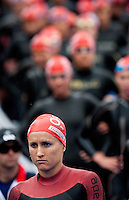 12 JUL 2009 - KITZBUHEL, AUT - Emma Moffatt waits for the race start - ITU World Championship Series Womens Triathlon.(PHOTO (C) NIGEL FARROW)