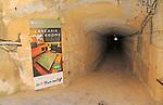 Tunnel entrance to Lascaris War Rooms underground museum, Valletta, Malta